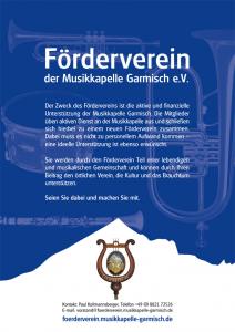 Plakat - Förderverein der Musikkapelle Garmisch e.V.