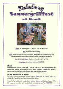 Einladung Sommergrillfest